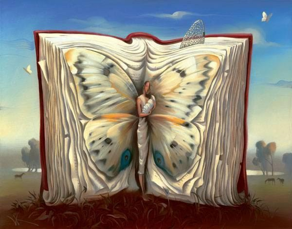 Vladimir Kush 'Butterfly Mother in a Book'